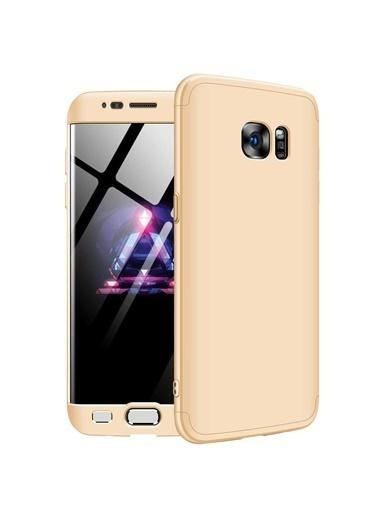 Microsonic Samsung Galaxy S7 Edge Kılıf Double Dip 360 Protective Gold Altın